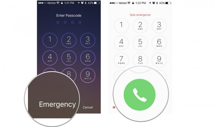 activate iphone using emergency call