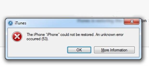 fix iphone error 53