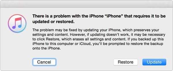 fix iphone blue screen - update iphone in itunes
