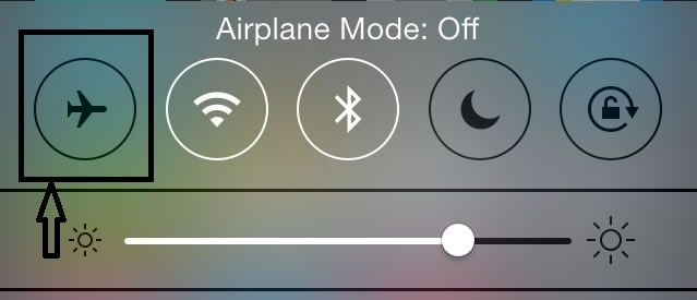 turn off iphone airplane mode