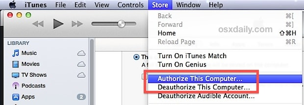 reauthorize itunes to fix iphone not syncing