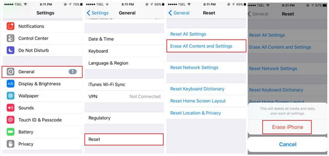 reset iphone to fix iphone won't sync