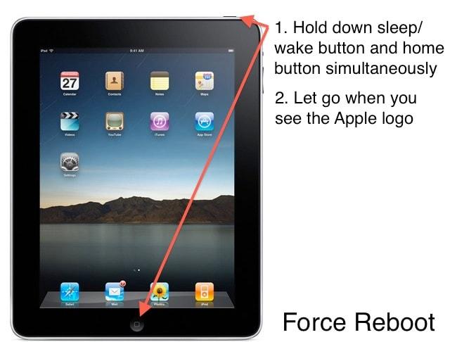 force restart ipad to fix ipad issues