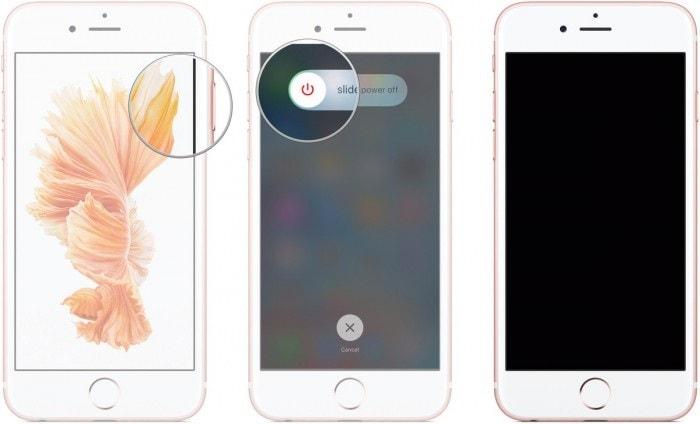 iphone alarm not working-restart iphone to fix iphone alarm not working