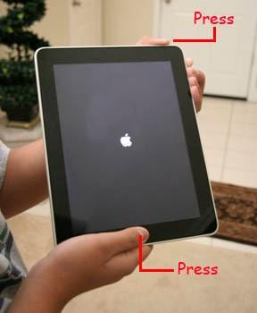 force restart ipad to fix ipad stuck on apple logo