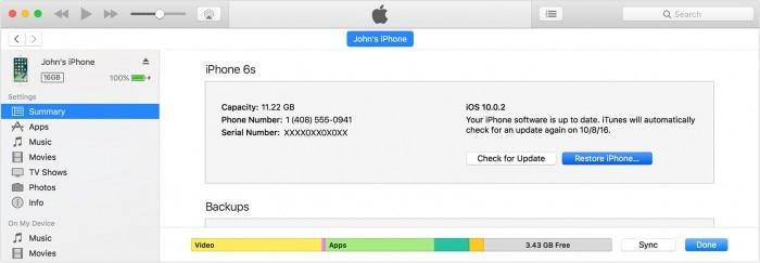 Benachrichtigungen funktionieren nicht auf iPhone-iTunes iPhone wiederherstellen