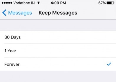 keep messages forever
