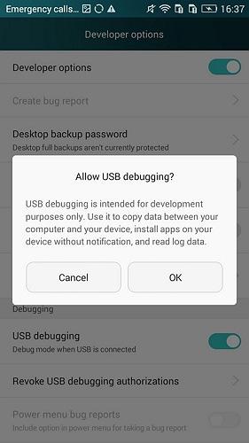 enable usb debugging on huawei honor 6/7/8 - step 4