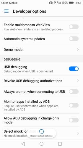 enable usb debugging on huawei mate 7/8 - step 4
