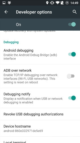 enable usb debugging on oneplus - step 5