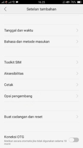 enable usb debugging on oppo - step 1