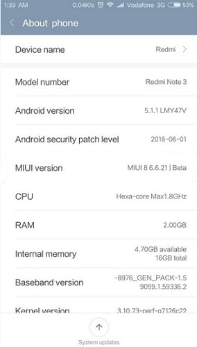 enable usb debugging on xiaomi redmi - step 1
