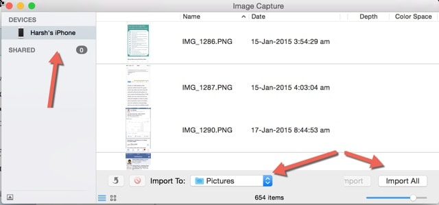 transfer iphone videos to mac using image capture