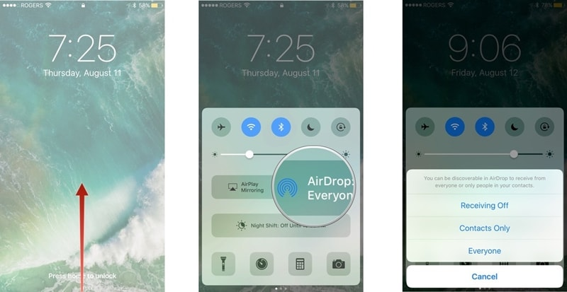 transfer iphone photos using airdrop