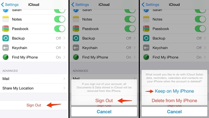 iphone won t backup to icloud-sign out and sign in icloud account
