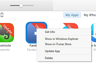 update apps from itunes