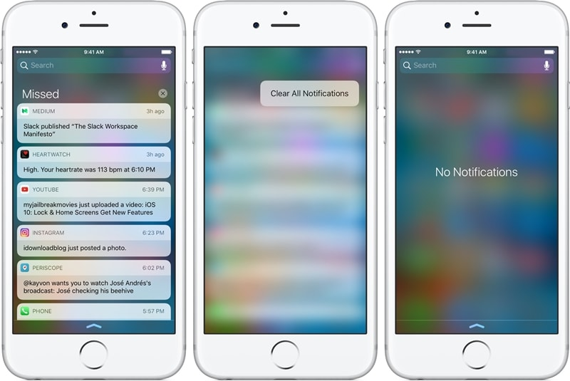 iphone lock screen with notifications-close app notification