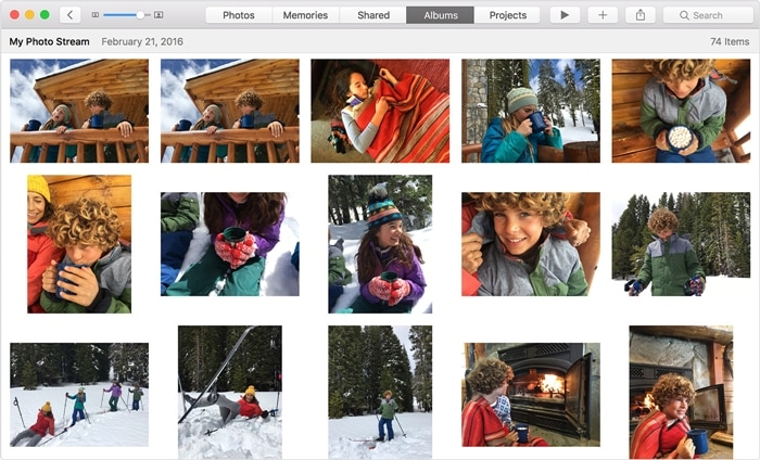access icloud photos from mac