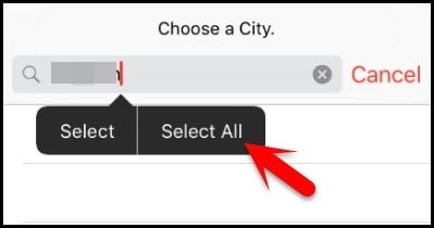 select all text