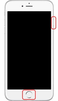 Exit iPhone DFU Mode-press Home and Power button
