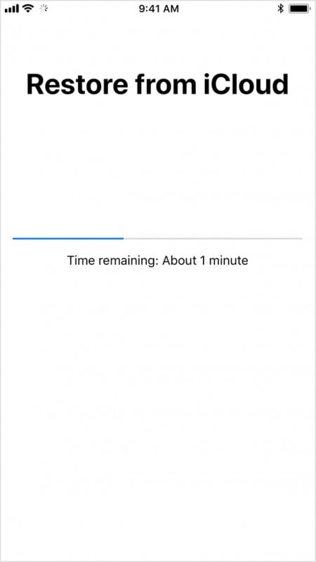 Restore Data from iCloud backup-choose a backup file