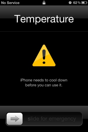 Detect Spyware on iPhone-notice that your iPhone is warm