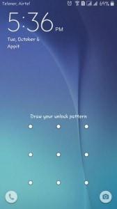 Samsung lock screen-provided pattern