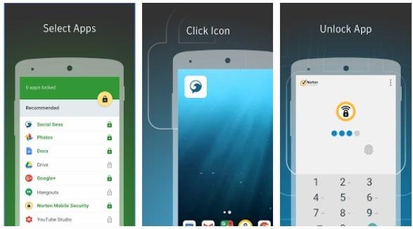 lock apps with fingerprint android-Norton Applock
