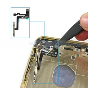 disassemble iphone to fix iphone volume button stuck