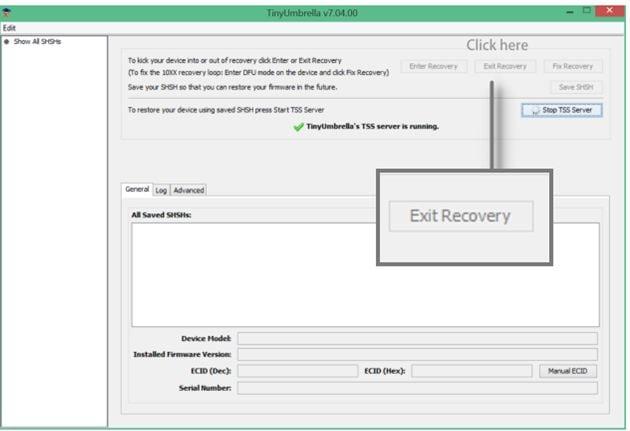 exit iphone recovery mode using tidyumbrella