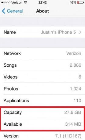 iPhone Speicher überprüfen