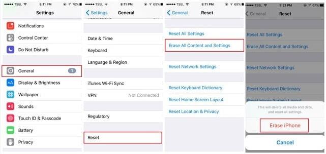 iPhone auf Werkseinstellungen zurücksetzen