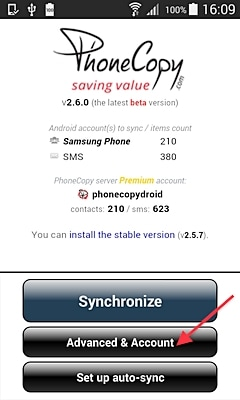 phonecopy advanced account