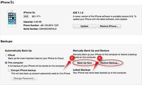 Transfer Apps to Your New Phone-itunes