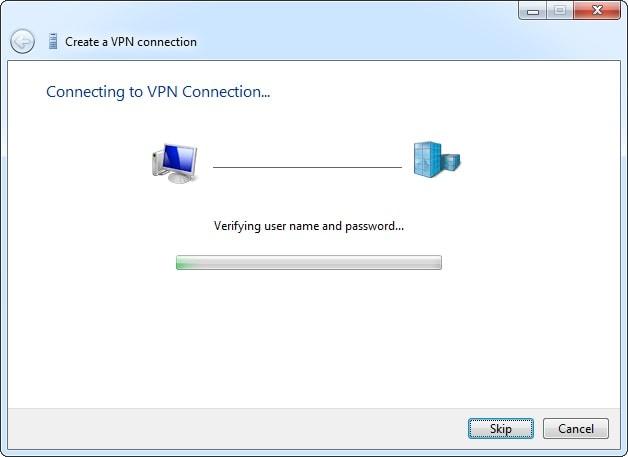 connect vpn on windows 7