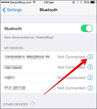 pair bluetooth on both iphones