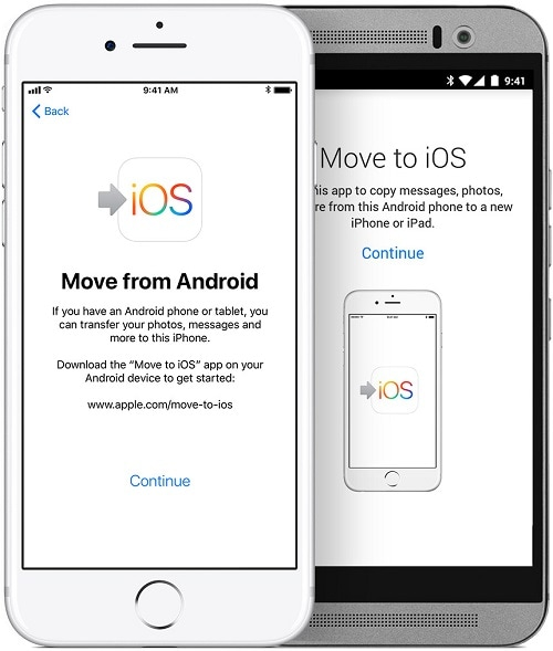 android to iphone contacts transfer app - move to ios