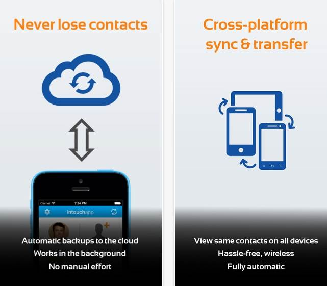 android to iphone contacts transfer app - InTouchApp