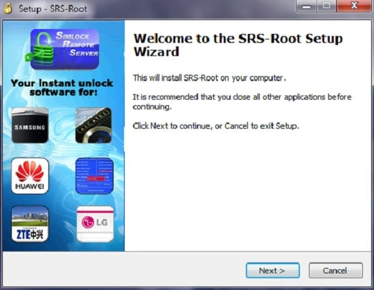 install SRS Root to start
