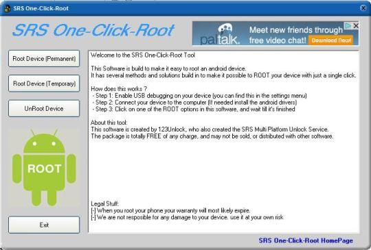 SRS Root software for PC