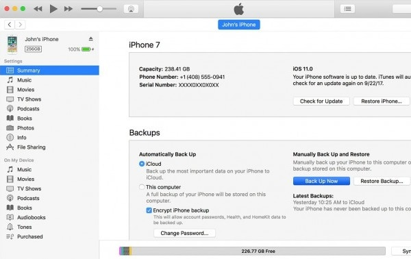 backup iphone apps to itunes