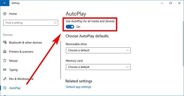 turn on autoplay on windows