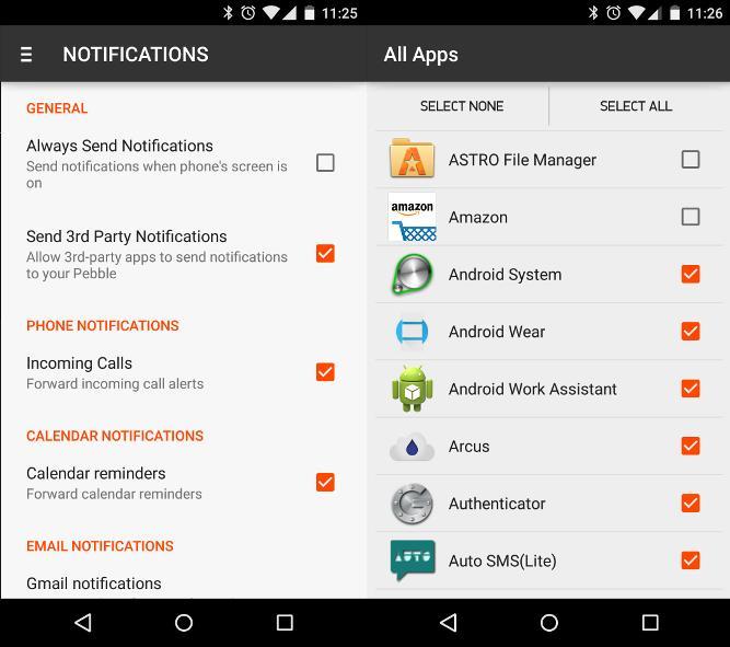 app list in settings