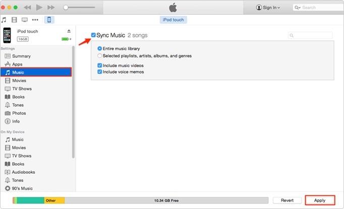 sync ipod music to computer