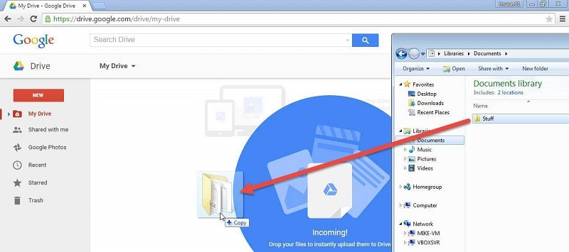 upload movies to google drive