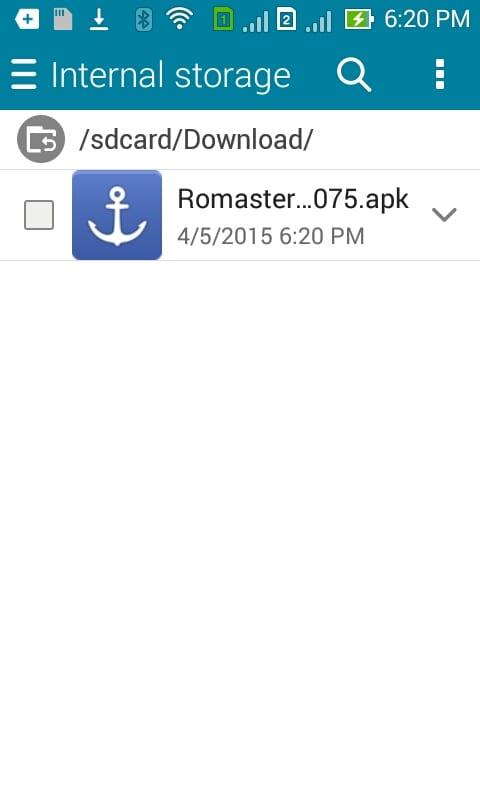 iRoot apk file downloaded