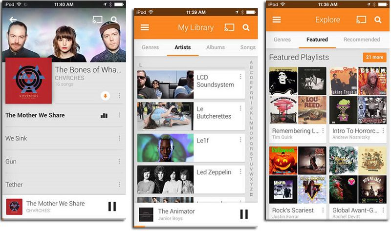 download songs on iphone with google play music