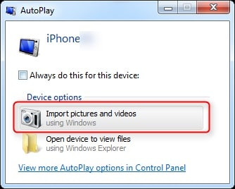 import pictures and videos from iphone to laptop