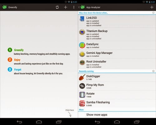 Top Android Root App: Greenify