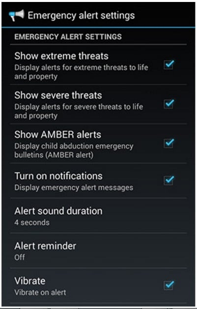 disabling all alerts android